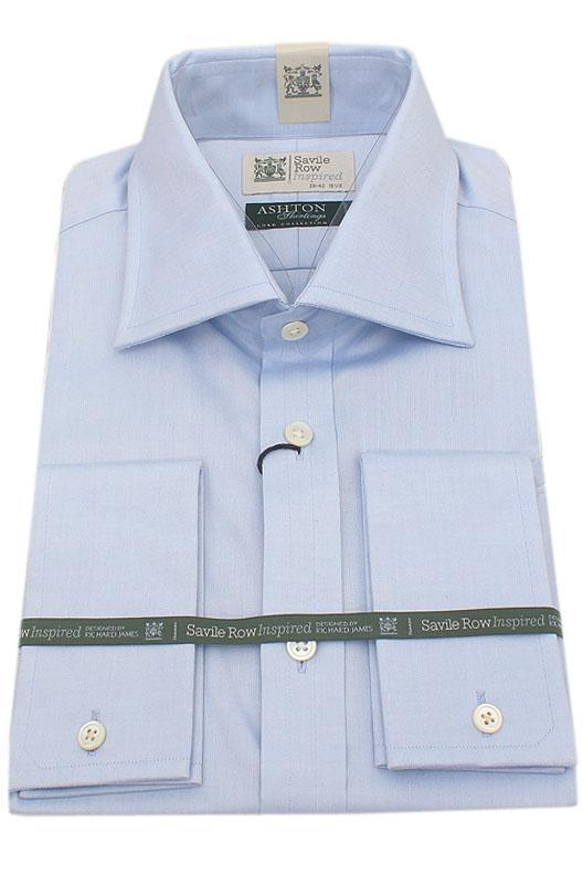 Savile Row Blue Ashton Shirting Men Shirt