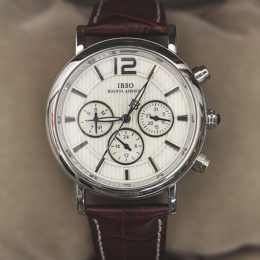 Navigator Brown Leather Small Face Watch
