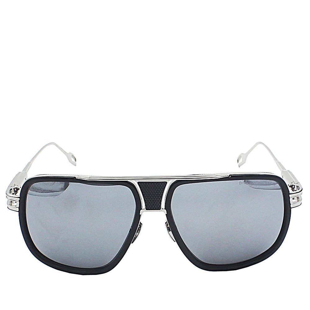 Silver Black Aviator Square Mirrow Len Sunglasses