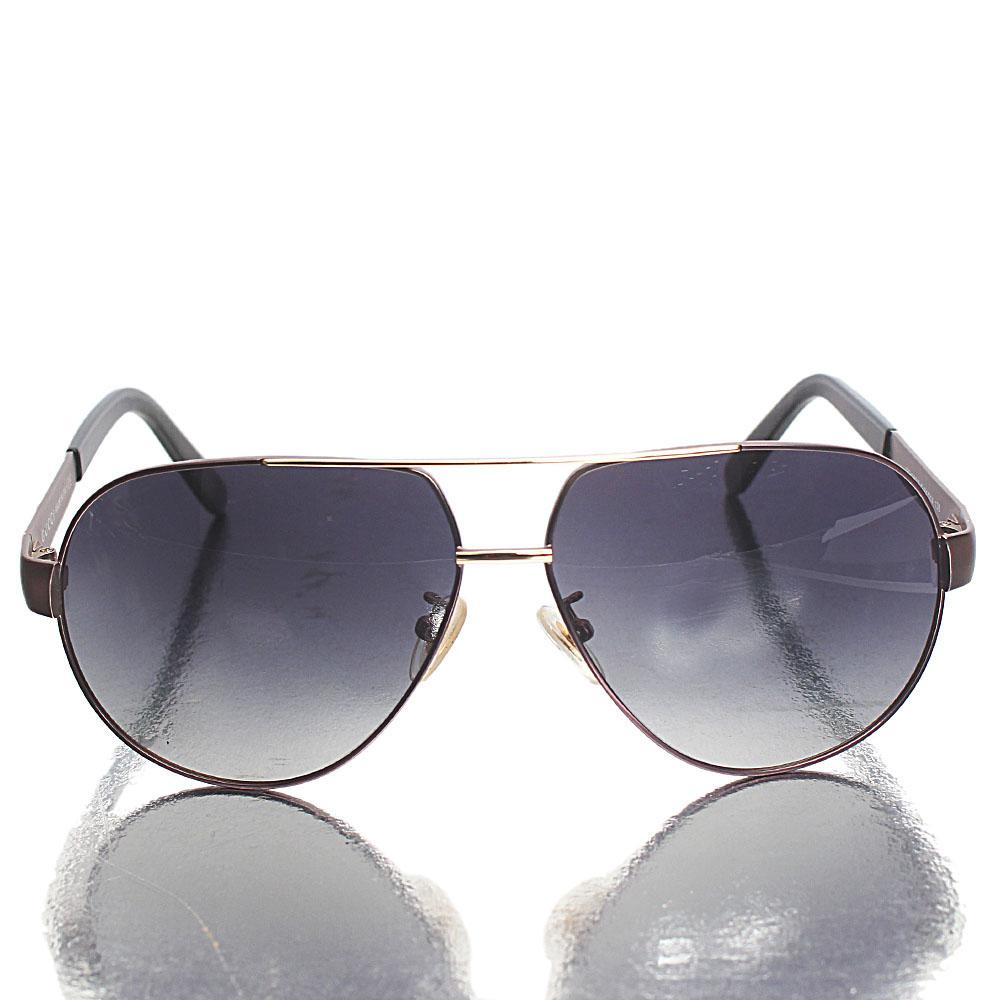 Gray Black Aviator Sunglasses