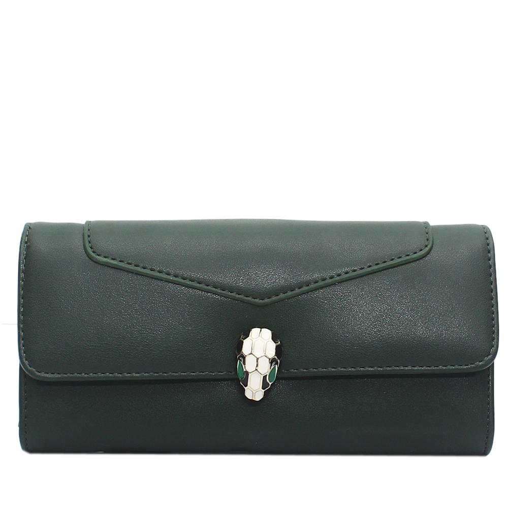 Nubuck Green Leather Ladies Wallet