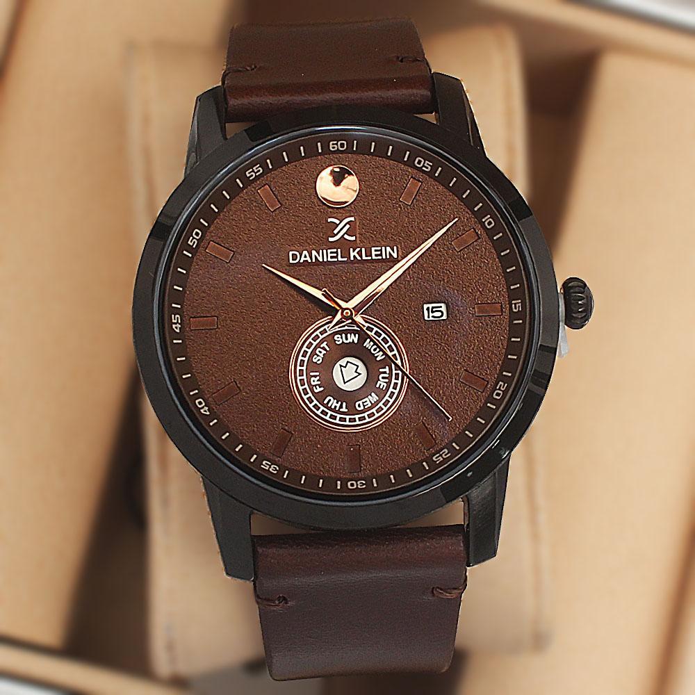Daniel Klein Ranger Fashion Watch wt Coffee Leather Strap