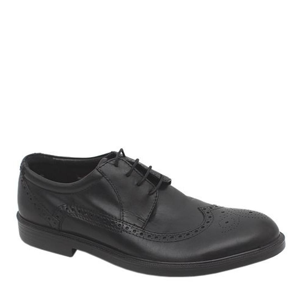 M&S Airflex Black Men Brogue Shoe