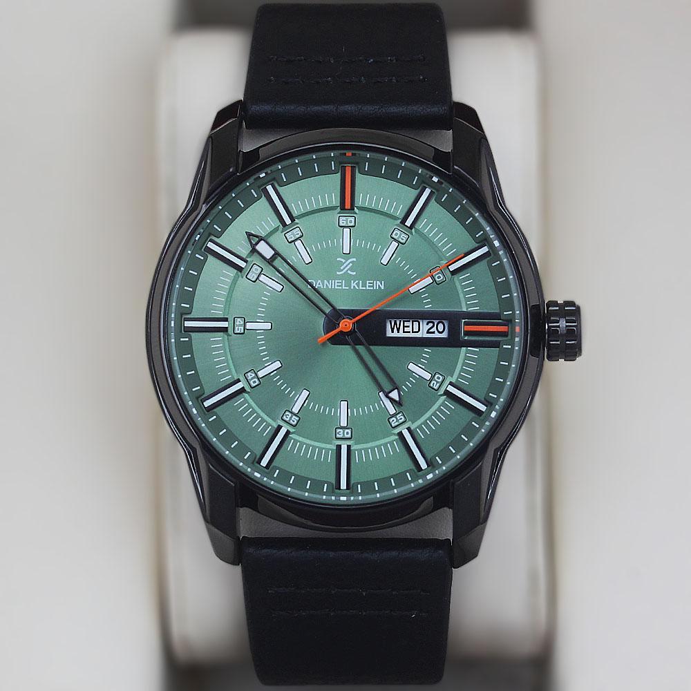 Daniel Klein Fashion Watch wt Black Leather Strap
