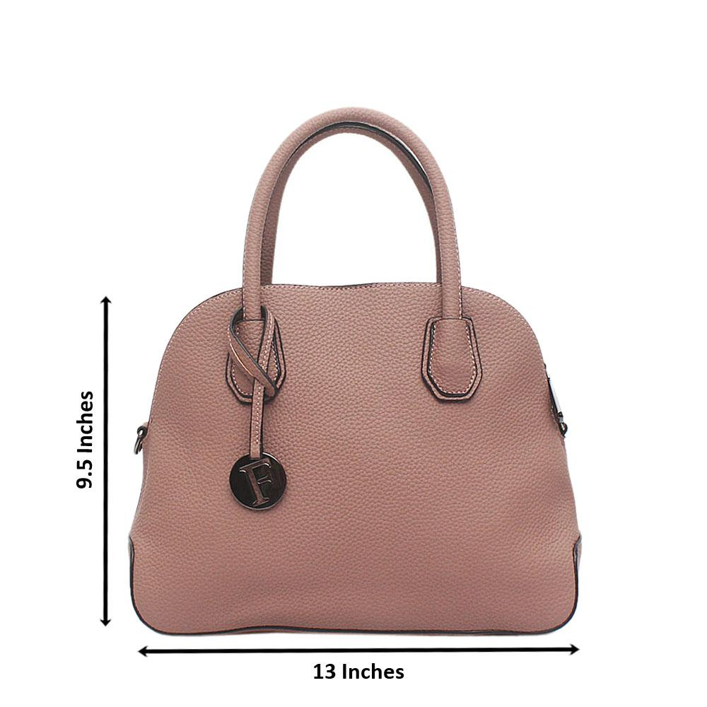 London Style Lilac Leather Tote Bag