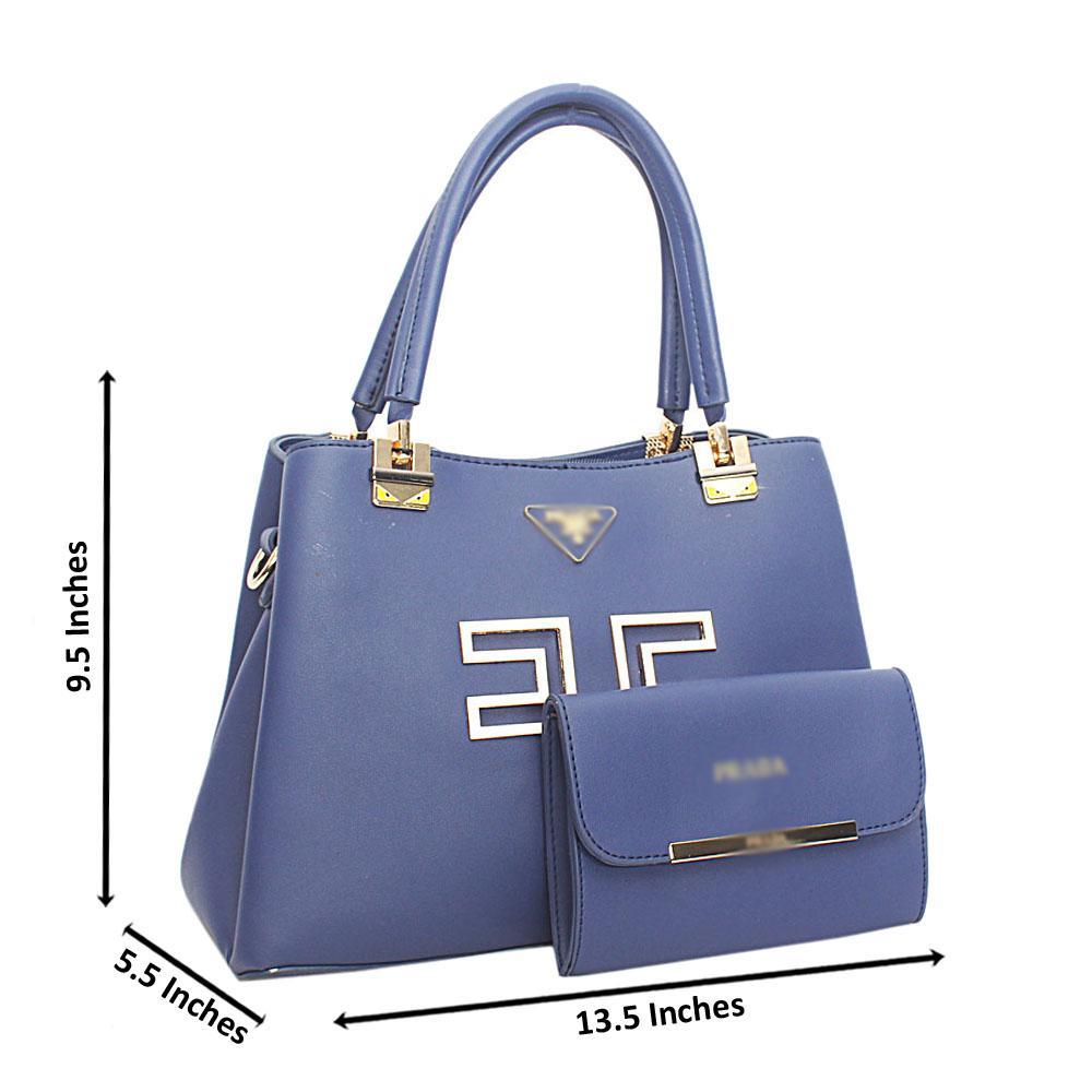 Blue Hook Leather Handbag