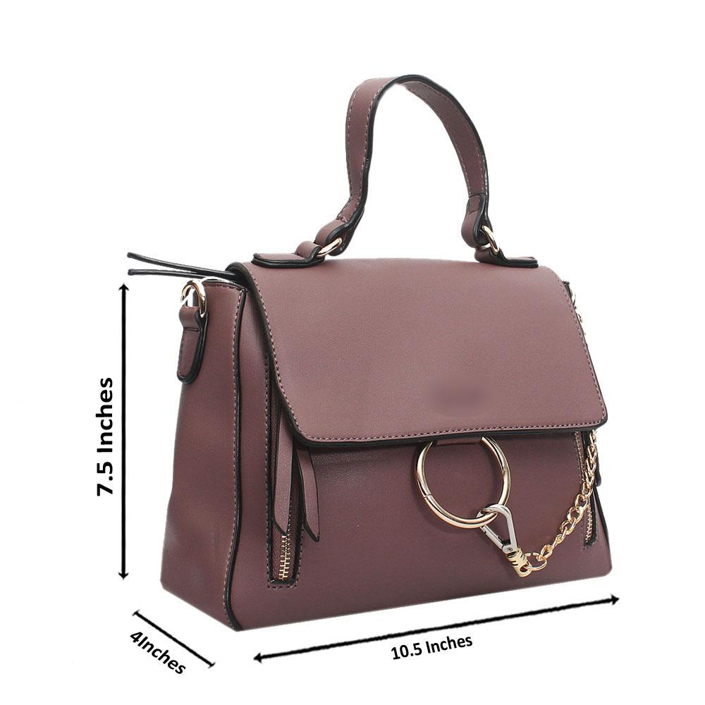 Purple Leather Small Faye Day Bag