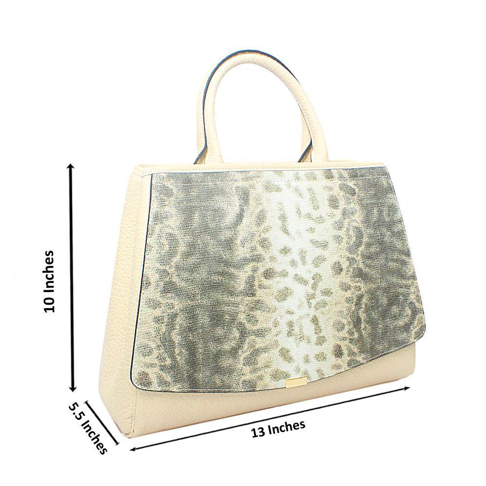 Timonne Cream Montana Leather Handbag