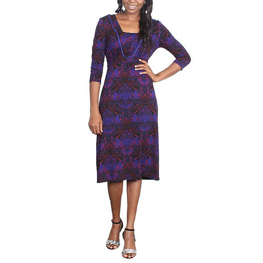 Peruna Multicolour Three Quarter Ladies Dress-UK 12