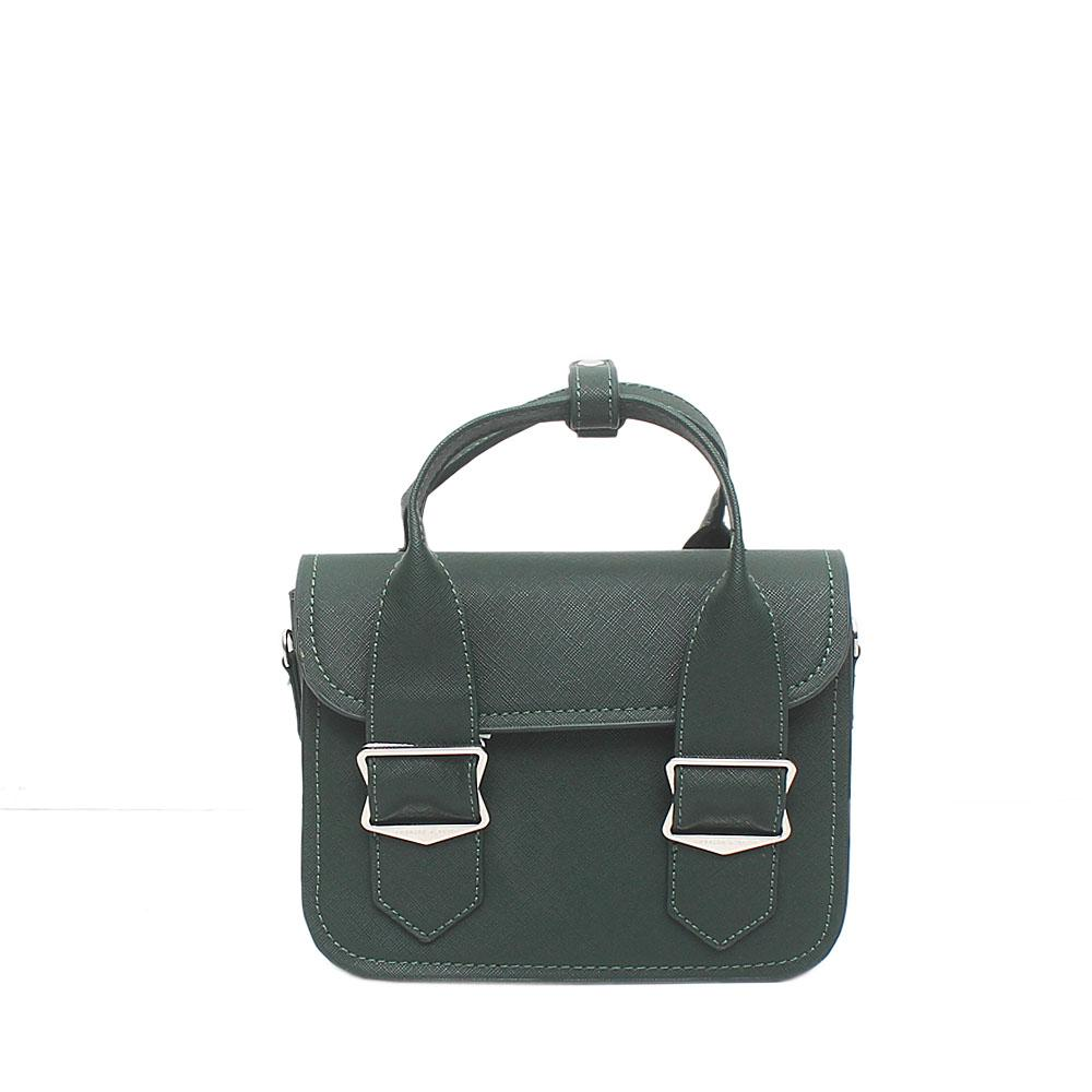 London Style Green Leather Mini Handbag
