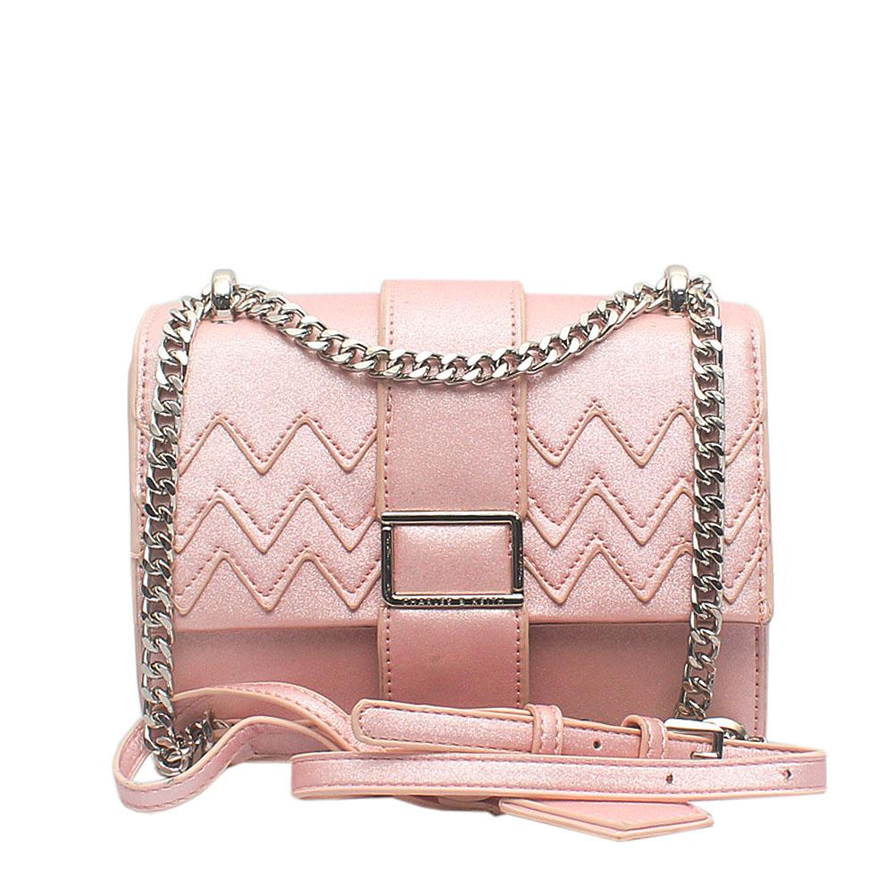 London Style Pink Leather Mini Cross Body Bag