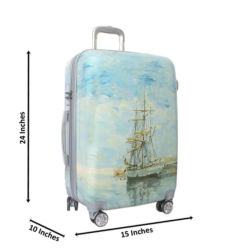 Marina 24 inch Hardshell 4 Wheels Spinners Medium Suitcase