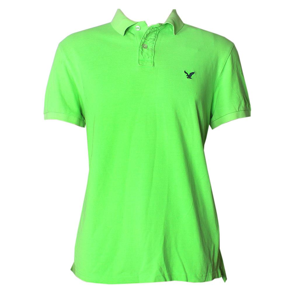 American Eagle Green Men's Polo-L