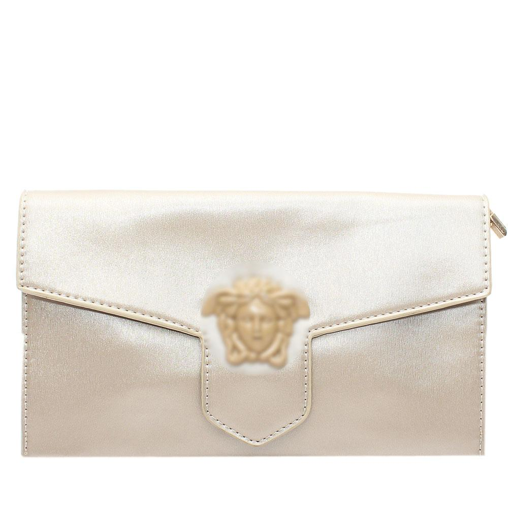 Gold Leather Flat Purse