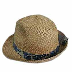M & S Brown Hand Woven Hat - L