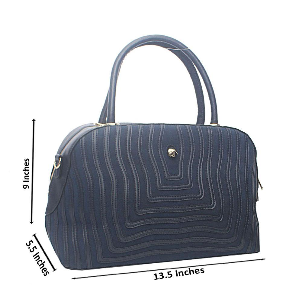 Navy Blue Orchard Aussie Leather Tote Bag