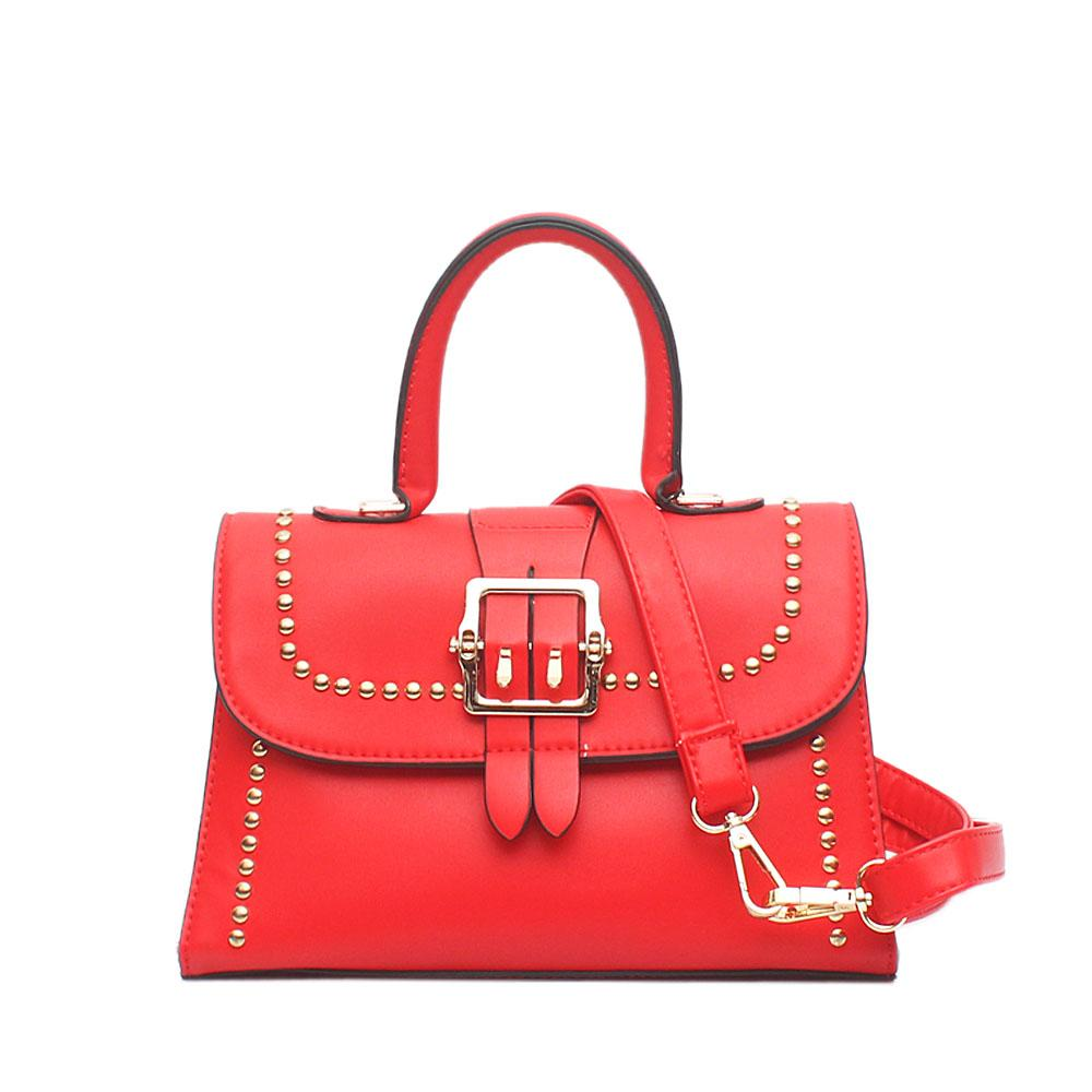 Alvin Barbie Red Leather Small Handle Bag
