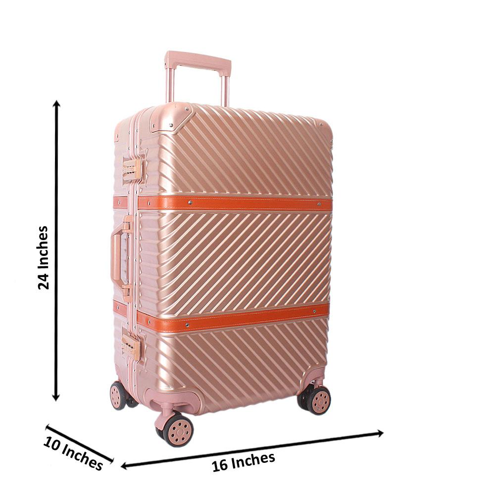 Baby Pink 24 Inch Hardshell 4 Wheels Spinners Medium Suitcase