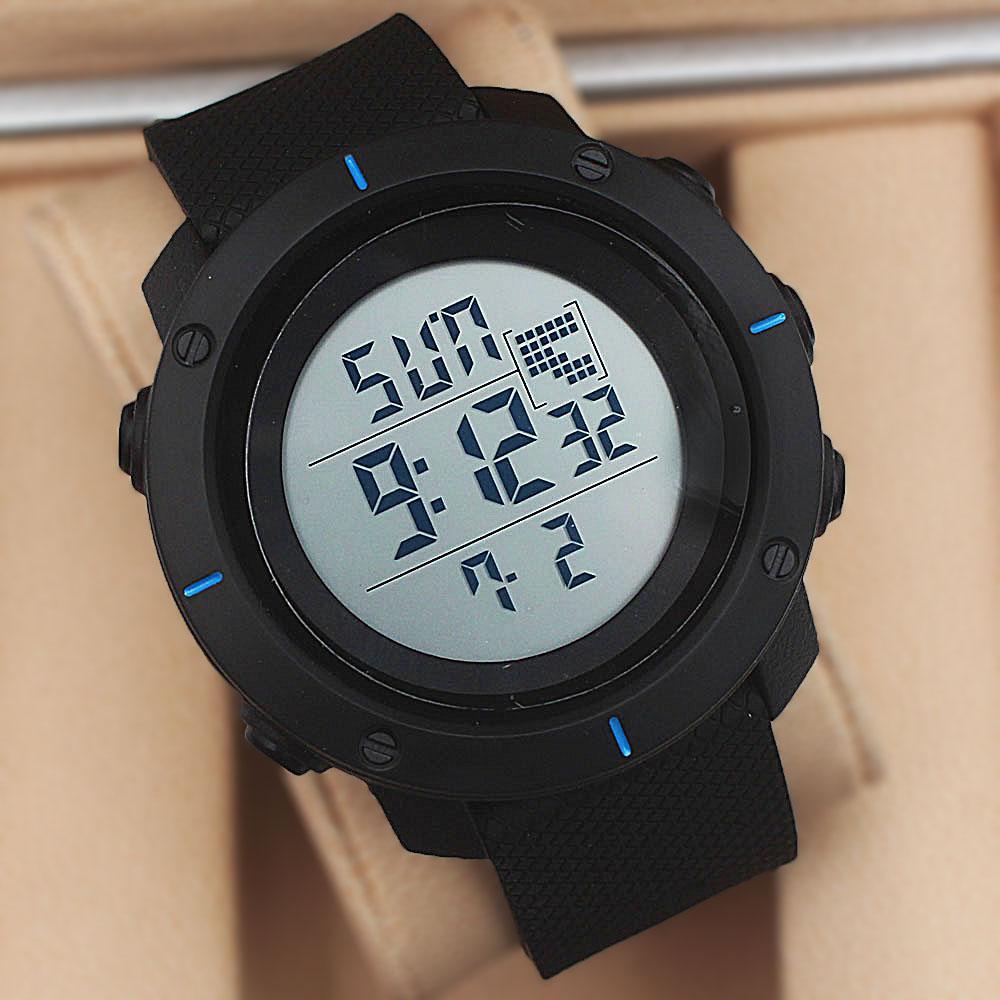 Vegans Argus Black Blue Dial Digital Watch