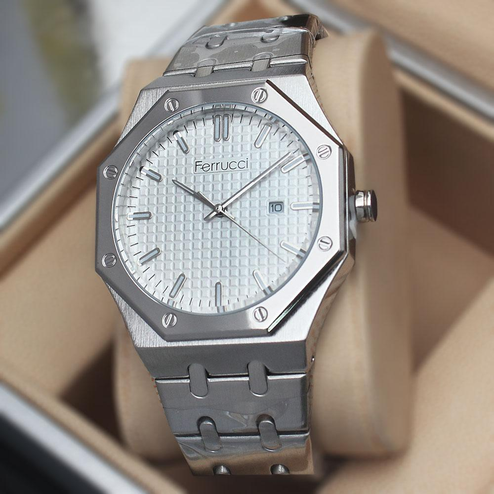 Ferruci Anecdotal White  Stainless Steel Fashion Watch