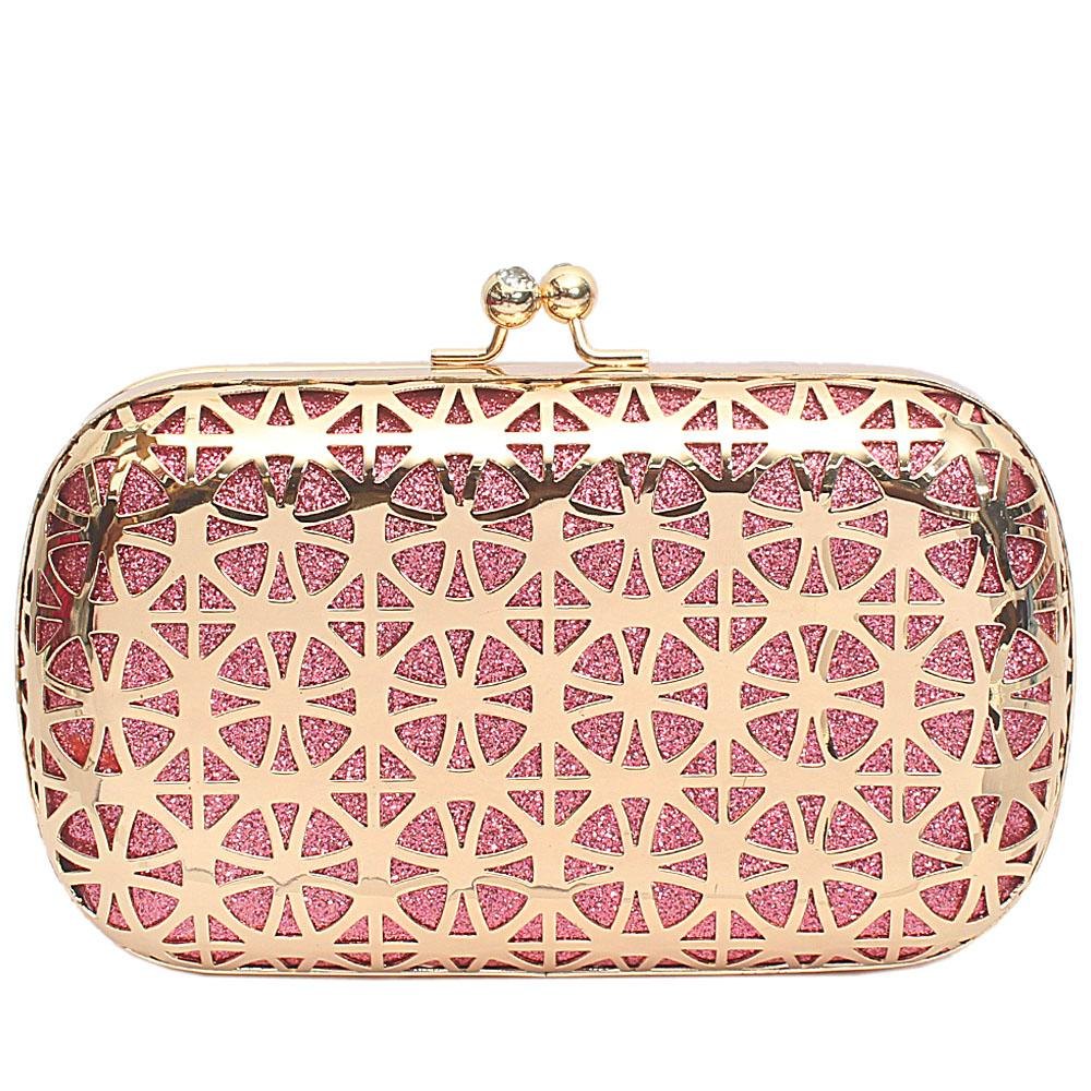 Gold Pink Steel Premium Hard Clutch