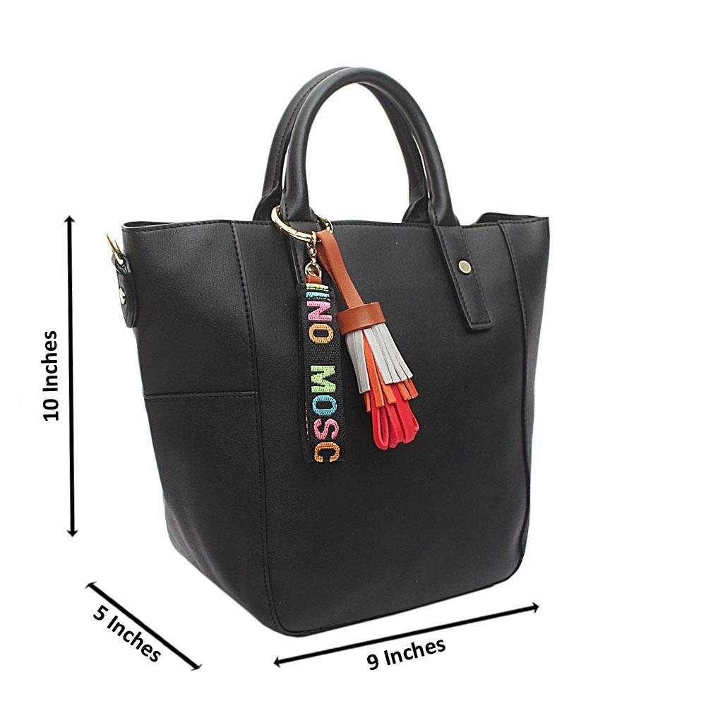 Black Omg Mediun Leather Handbag