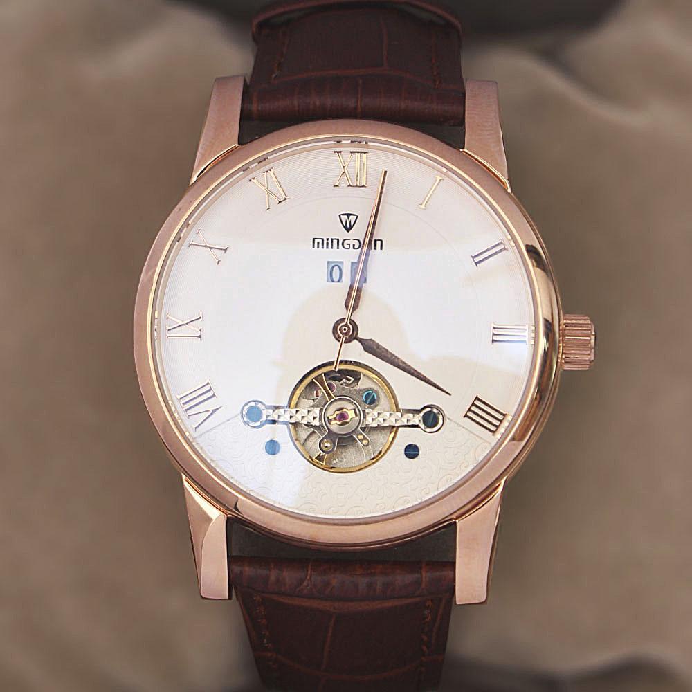 Shanghai Classic Man Brown Premium Croc Leather Automatic Watch