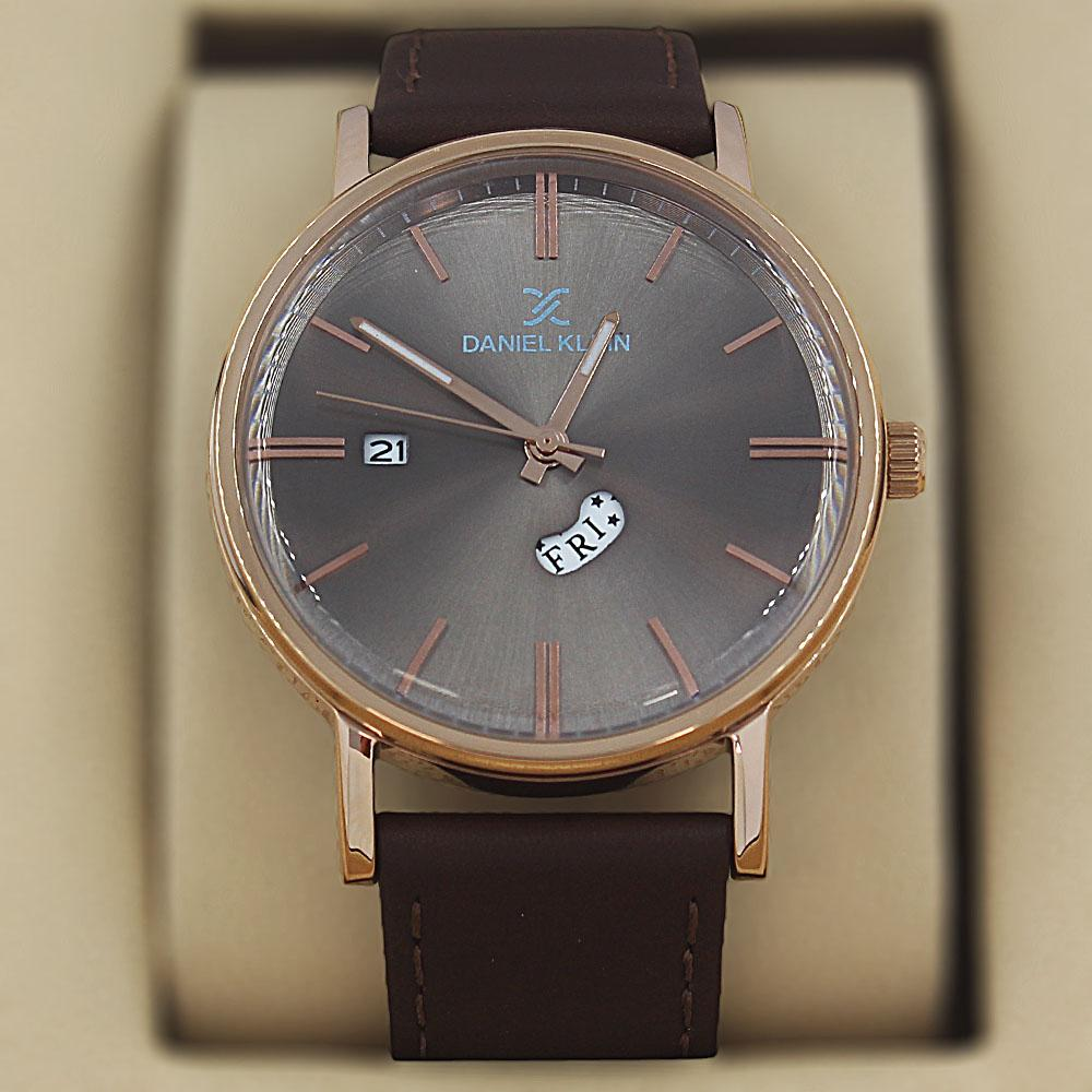 Daniel Klein Marcus Coffee Leather Classic Series Watch
