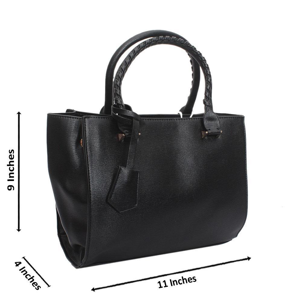 Black Leather Medium Sexy Handbag