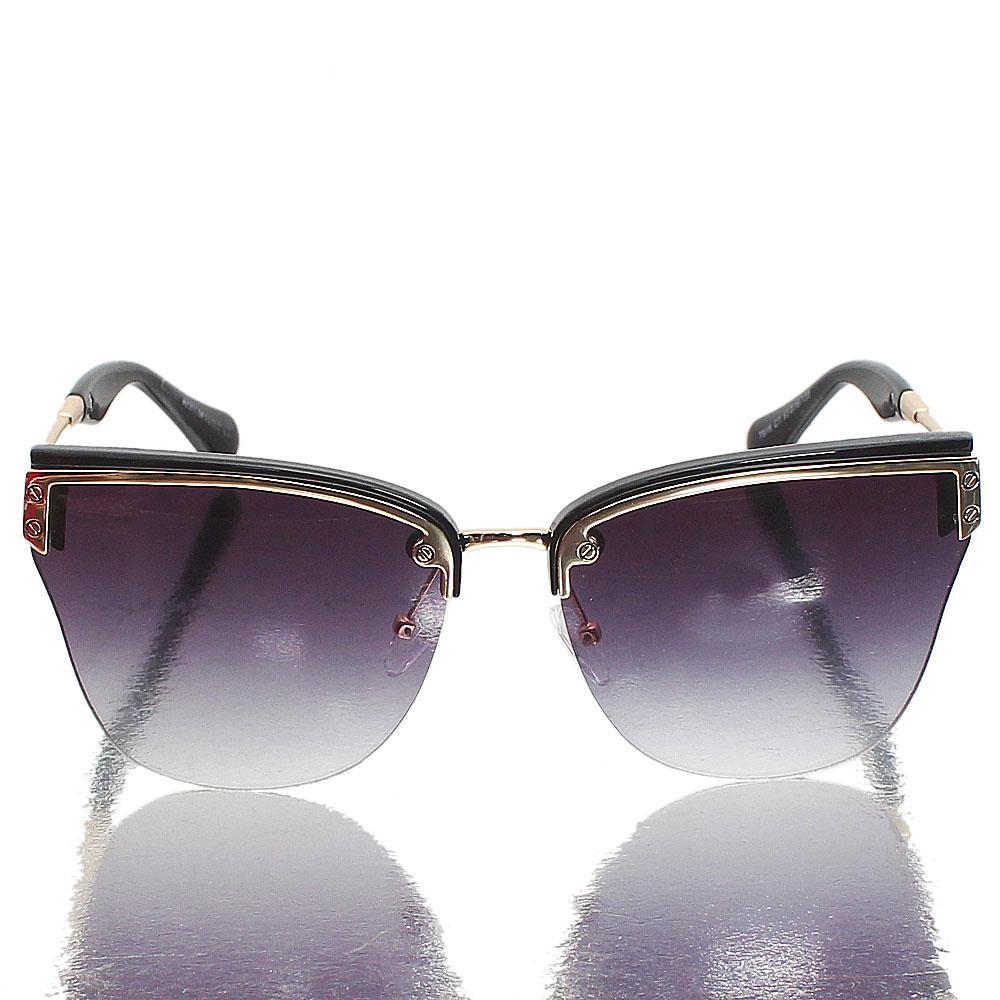 Gold Black Club Master Dark Lens Sunglasses