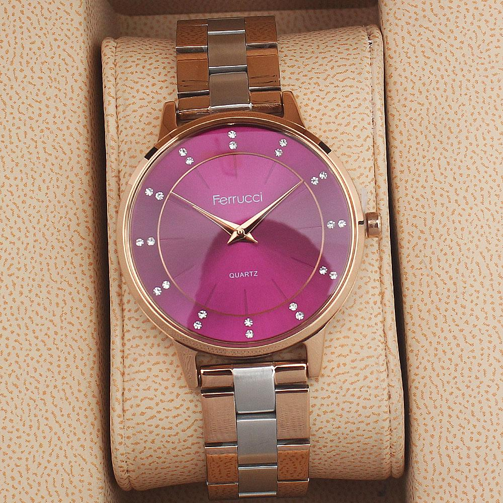 Ferrucci Sara Twin Purple Mix Ladies Watch
