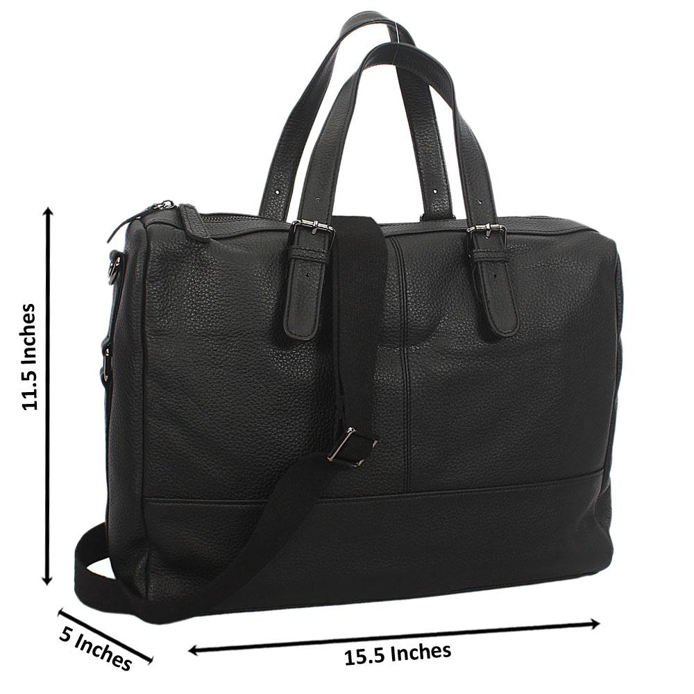 Black Classic Grain Leather  Briefcase