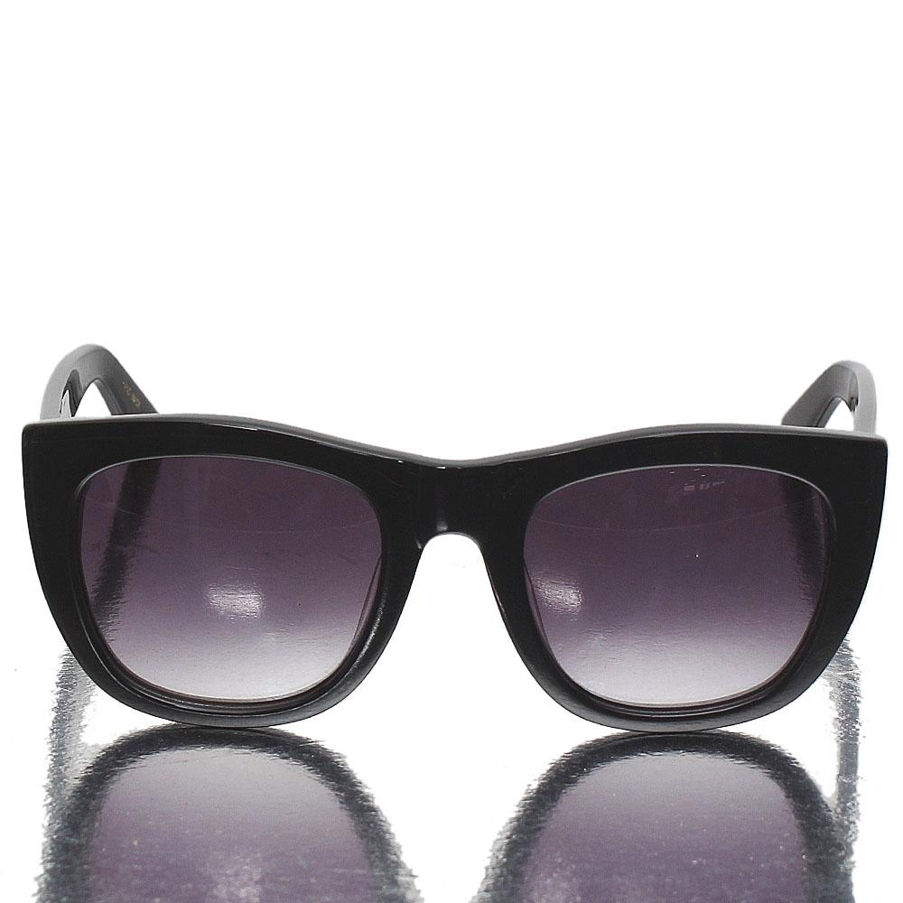 Black Wayfarer Dark Lens Sunglasses