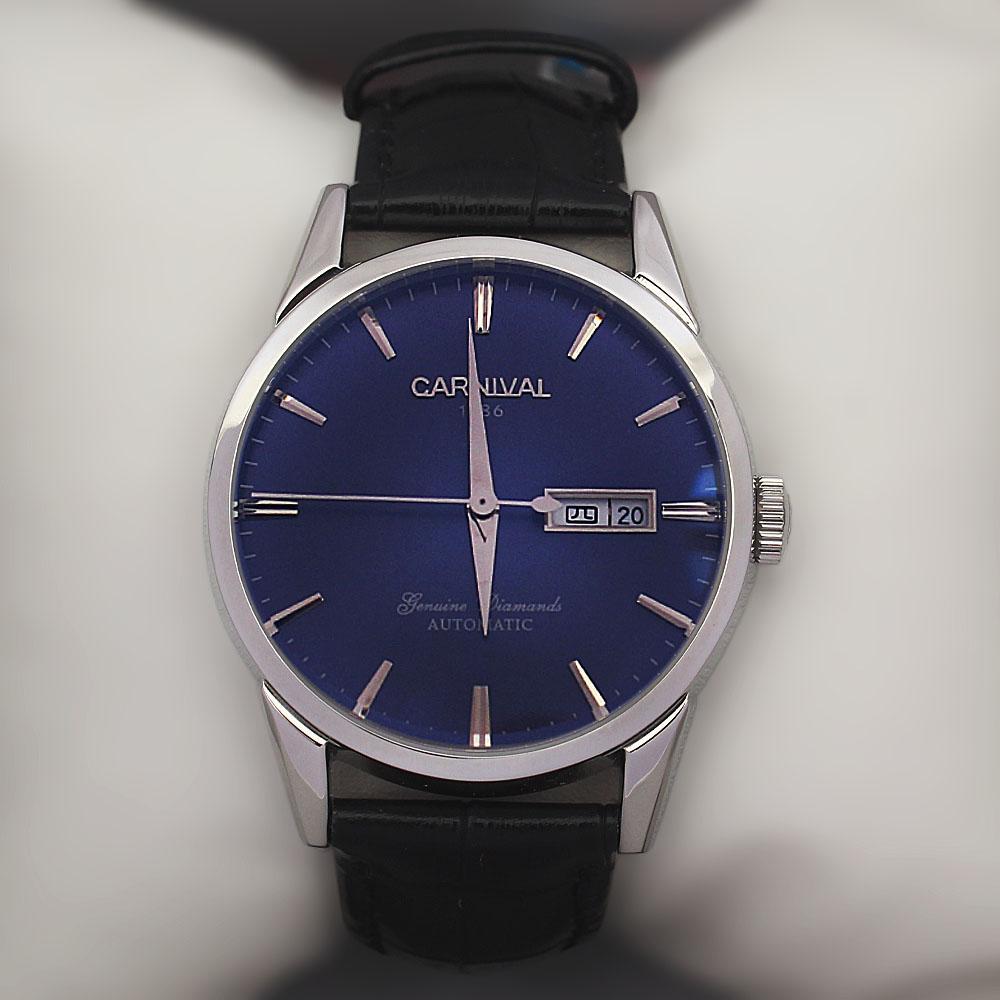 Shanghai Elvis Black Premium Croc Leather Automatic Watch