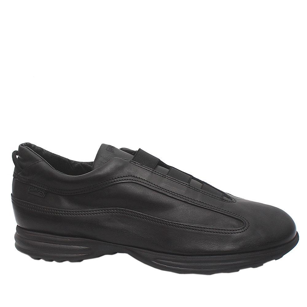 Camper Black Premium Leather Men Shoe