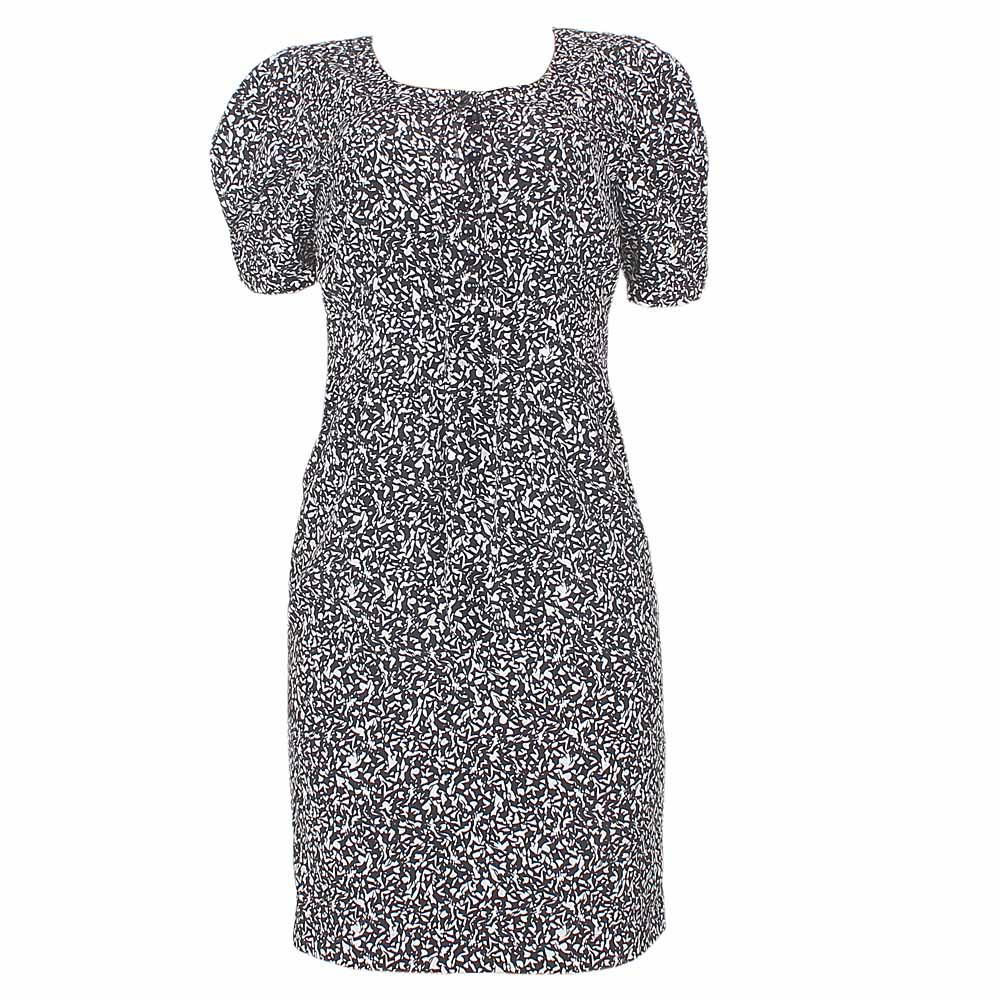 M & S Autograph Black/White Pattern Ladies Dress Sz Uk 8