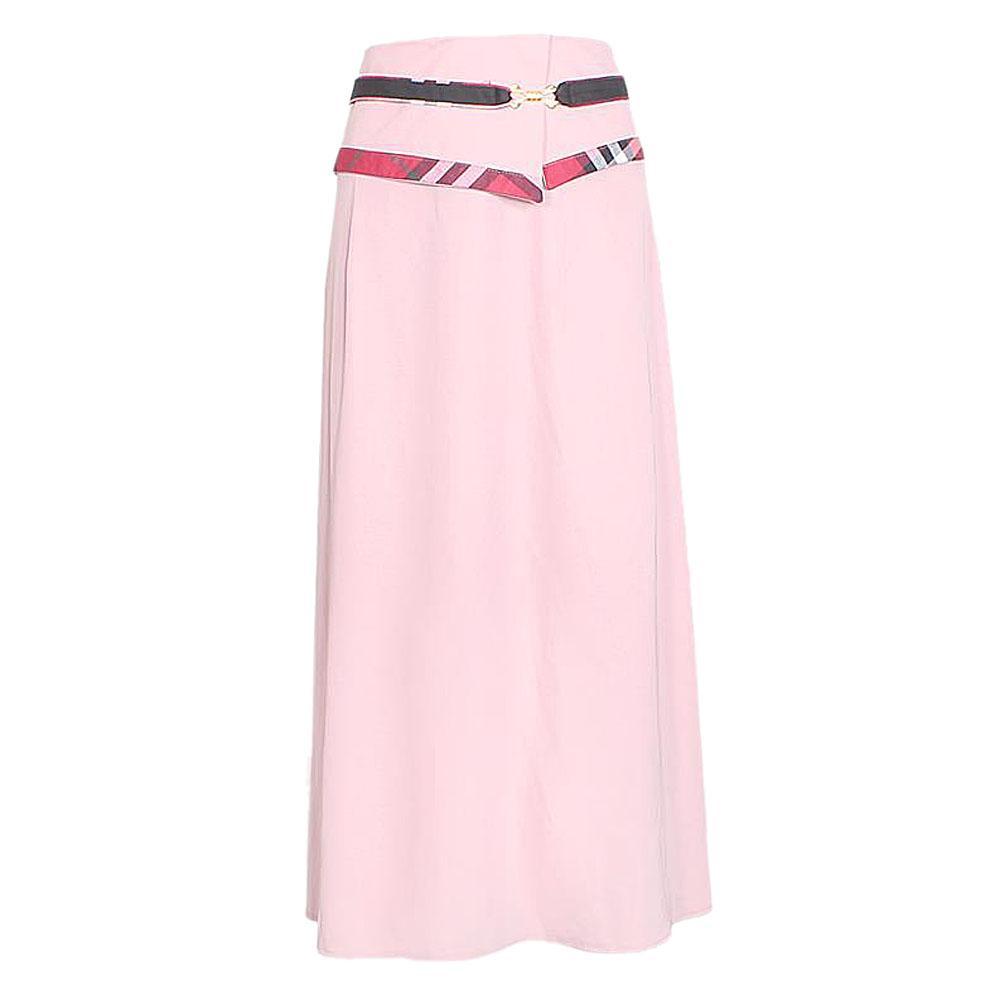 Du&ay Lilac Silk Ladies Long Skirt Wt Metal Design