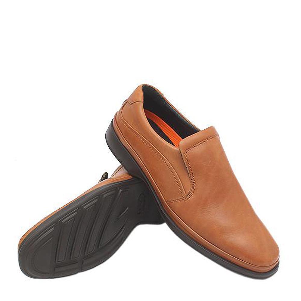 M & S Air Flex Brown Leather Men Loafers-Sz 44.5