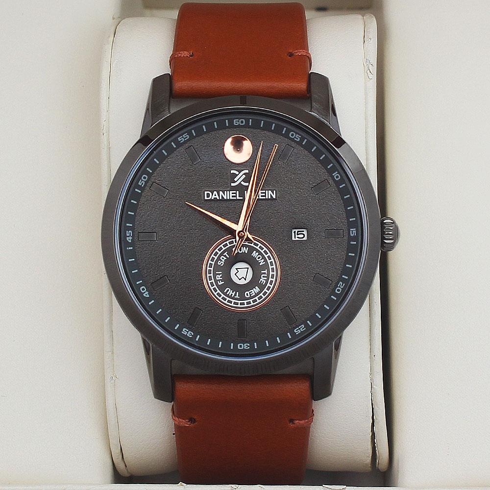 Daniel Klein Ranger Fashion Watch wt Brown Leather Strap