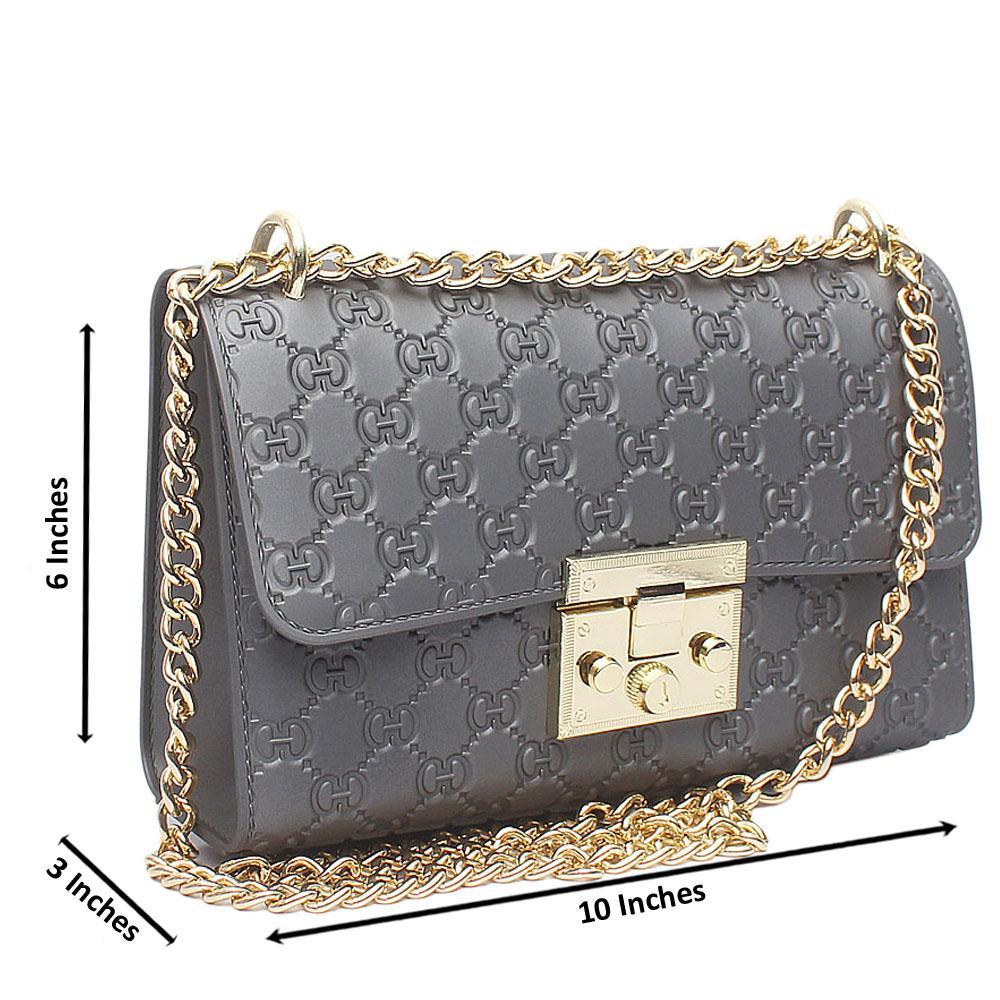 Grey Small Iconic Rubber Handbag