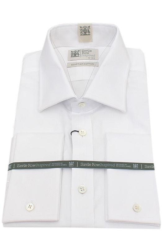 Savile Row White Egyptian Cotton Men Shirt