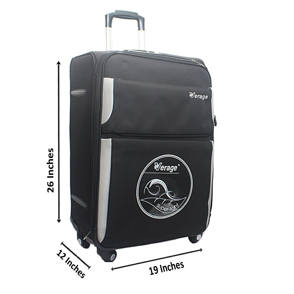 "Verage Black 26"" Premium Cordura Fabric Suitcase"