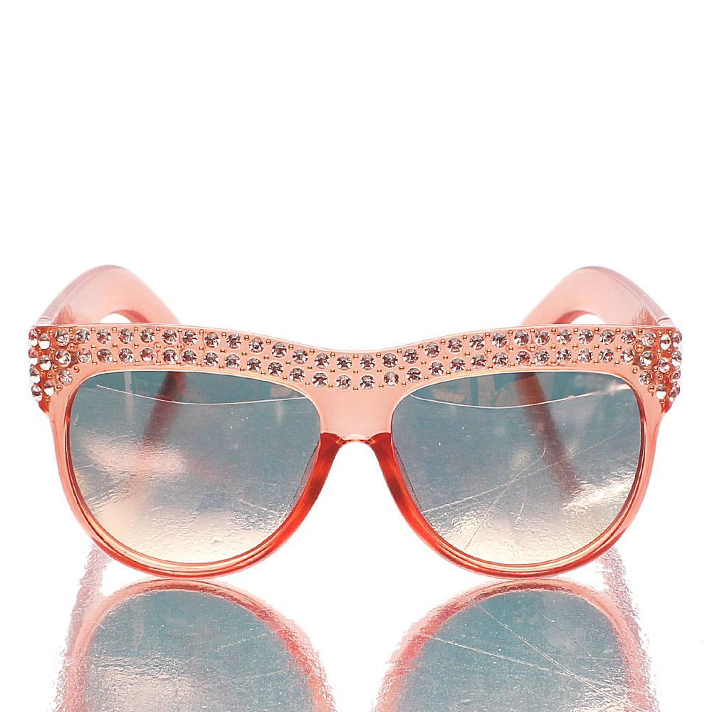 Peach Ice Studded UV Polarized Sunglasses