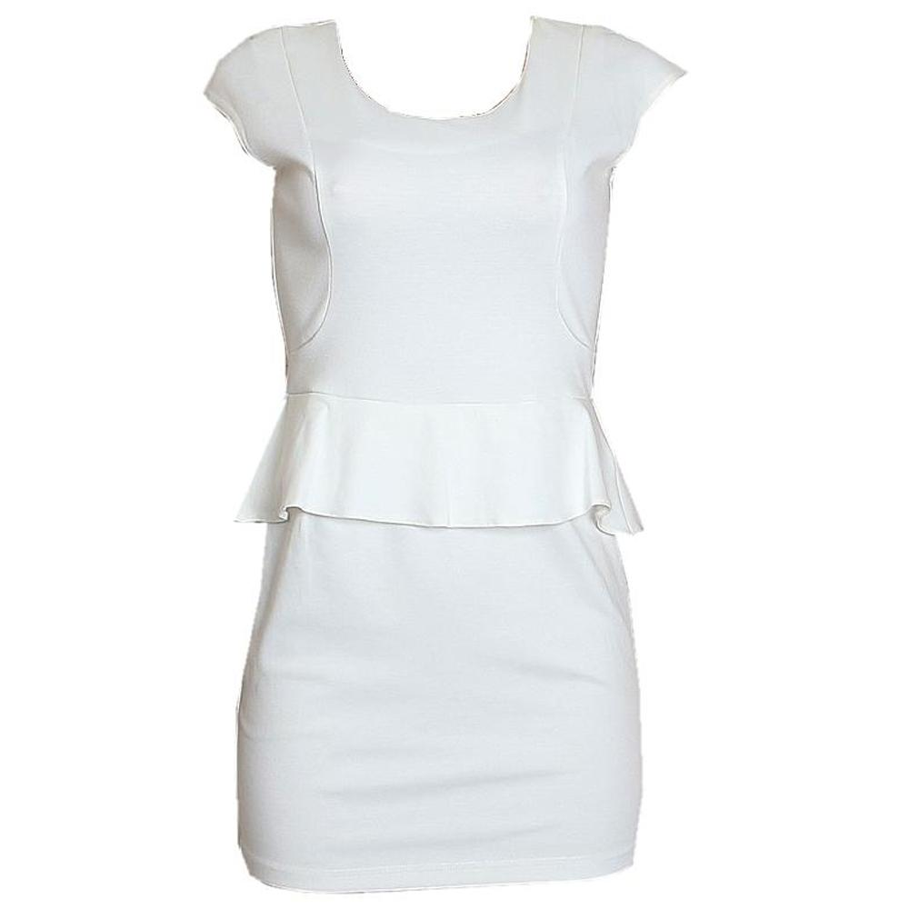Zee White Cotton Ladies Mini Dress-10