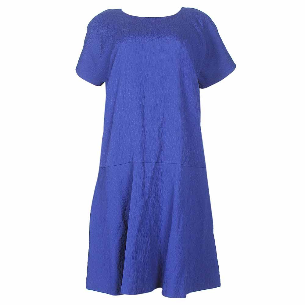 M&S Autograph Dark Blue S/L Ladies Dress-Uk 16