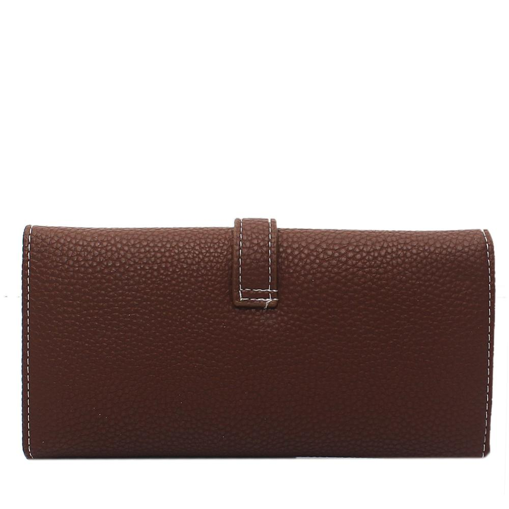 Coffee-Brown-Leather-Ladies-Wallet