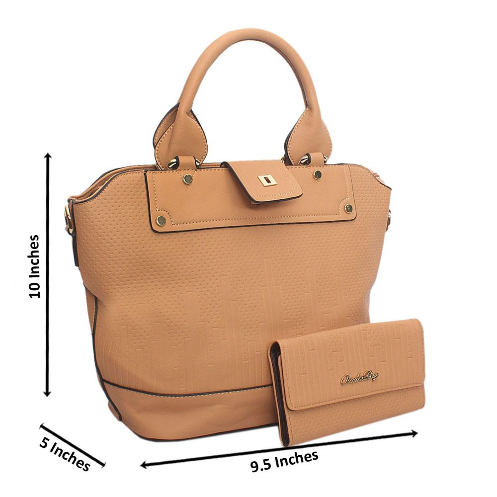 Brown Leather Tote Handbag Wt Minor Default
