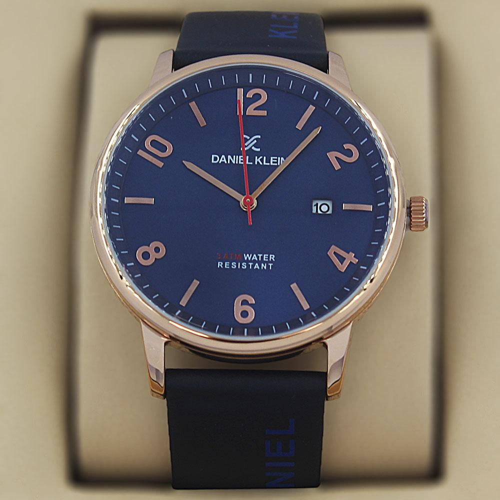 Daniel Klein Olympus Navy Gold Steel Leather Classic Series Watch