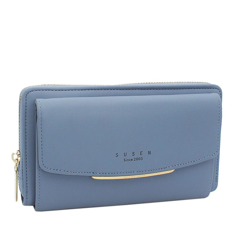 Susen Blue Panamera Leather Ladies Wallet