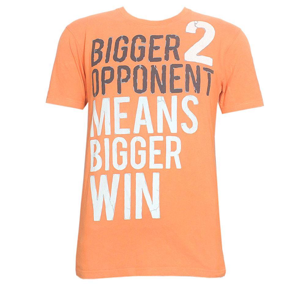 Spring Orange Graphic Print Men T-Shirt